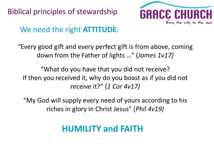 Biblical principles of stewardship
