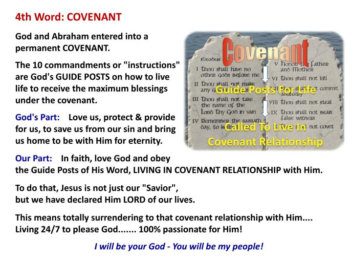 4th Word: COVENANT