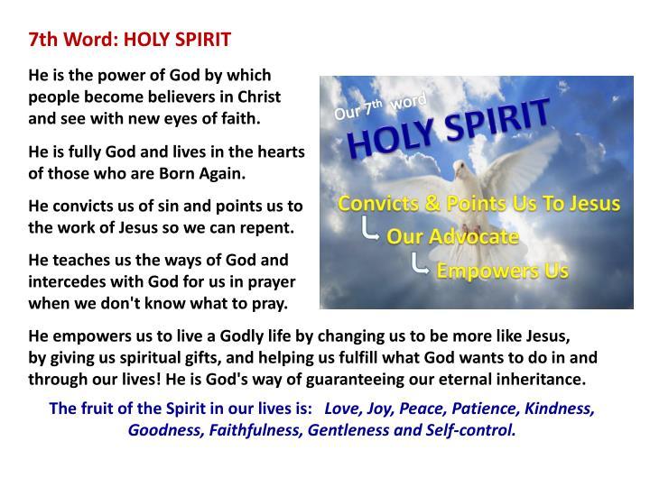 7th Word: HOLY SPIRIT
