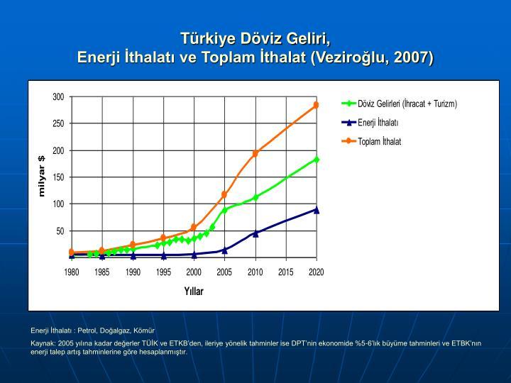 Türkiye Döviz Geliri,
