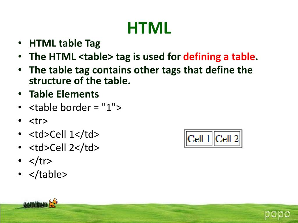 PPT - HTML PowerPoint Presentation - ID:4918799