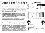 comb filter solutions