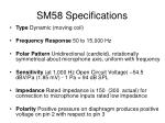sm58 specifications