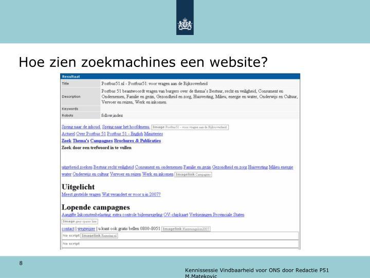 Hoe zien zoekmachines een website?