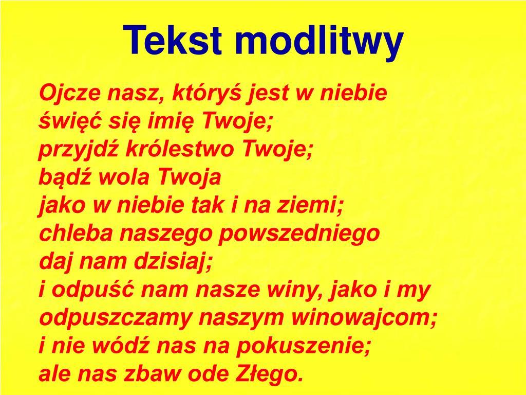 """PPT - Modlitwa """"Ojcze nasz"""" PowerPoint Presentation, free download -  ID:4919035"""