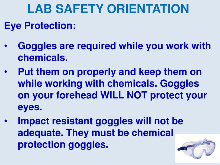 Eye Protection: