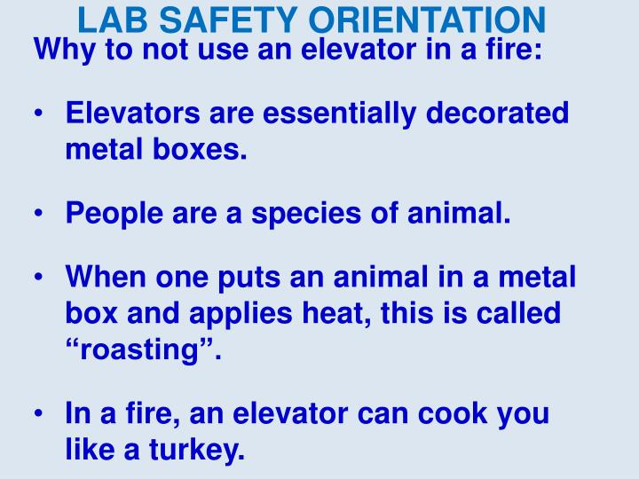 Why to not use an elevator in a fire: