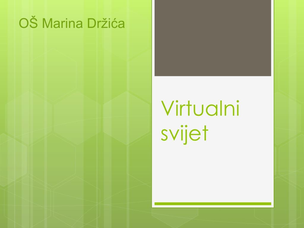 virtualni svijet upoznavanje putem interneta