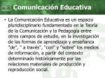 comunicaci n educativa