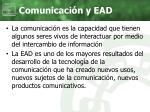 comunicaci n y ead