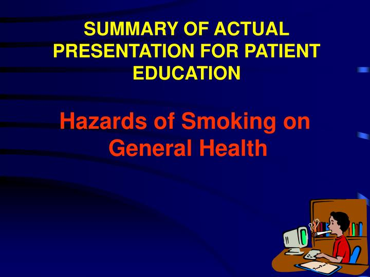 hazards of smoking on general health n.