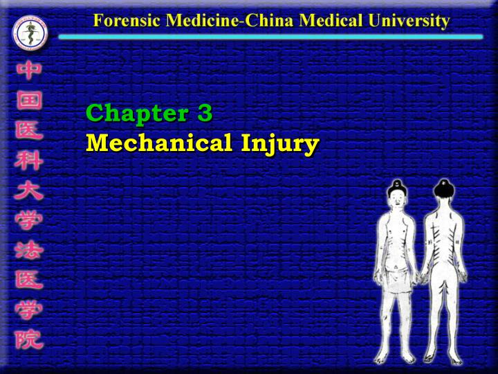 chapter 3 mechanical injury n.