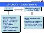 conditional transfer scheme
