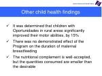 other child health findings1