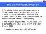 the oportunidades program1