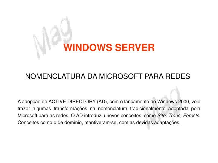 Windows server1