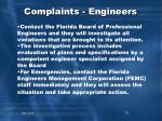 complaints engineers