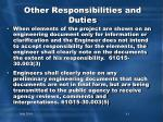 other responsibilities and duties