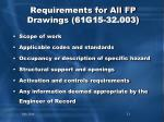 requirements for all fp drawings 61g15 32 003