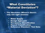 what constitutes material deviation1