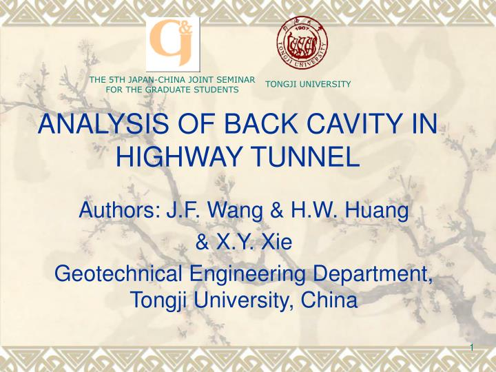 analysis of back cavity in highway tunnel n.