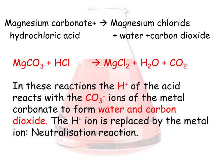 an analysis of the experiment the affect of calcium carbonate reacting with hydrochloric acid Calcium carbonate reacts with hydrochloric acid to produce carbon dioxide gas, when this reaction occurs, carbon dioxide is produce vigorously.