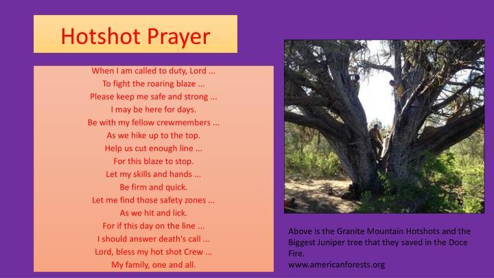 Hotshot Prayer