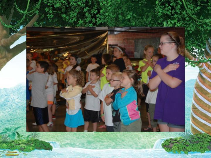 Kids making motion