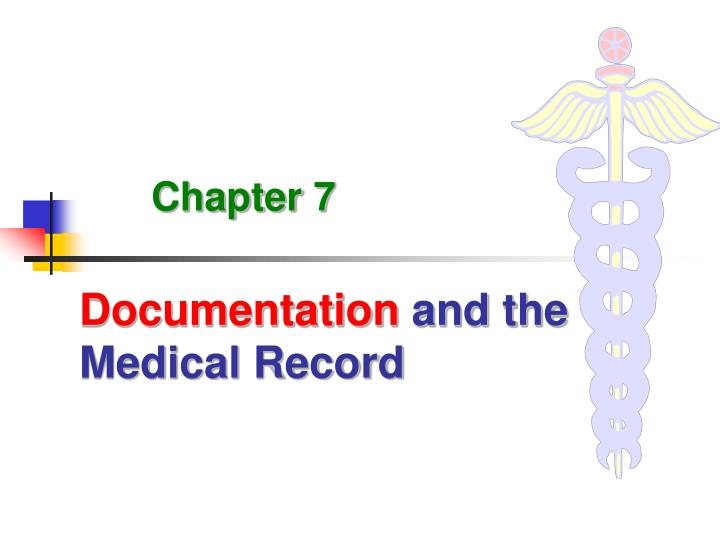 documentation and the medical record n.