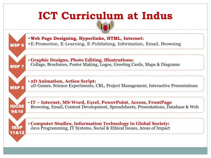 ICT Curriculum at Indus