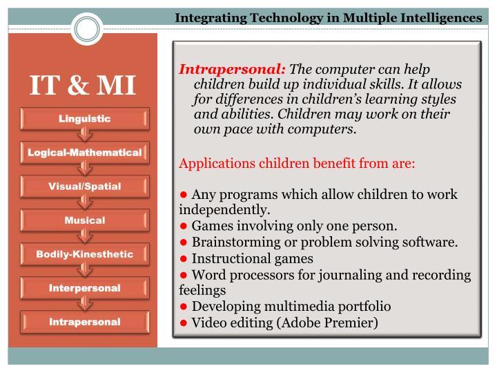 Integrating Technology in Multiple Intelligences