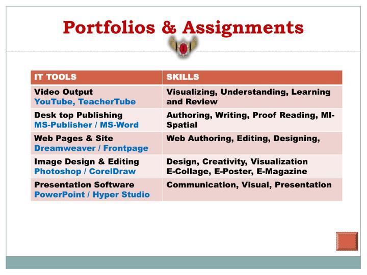 Portfolios & Assignments