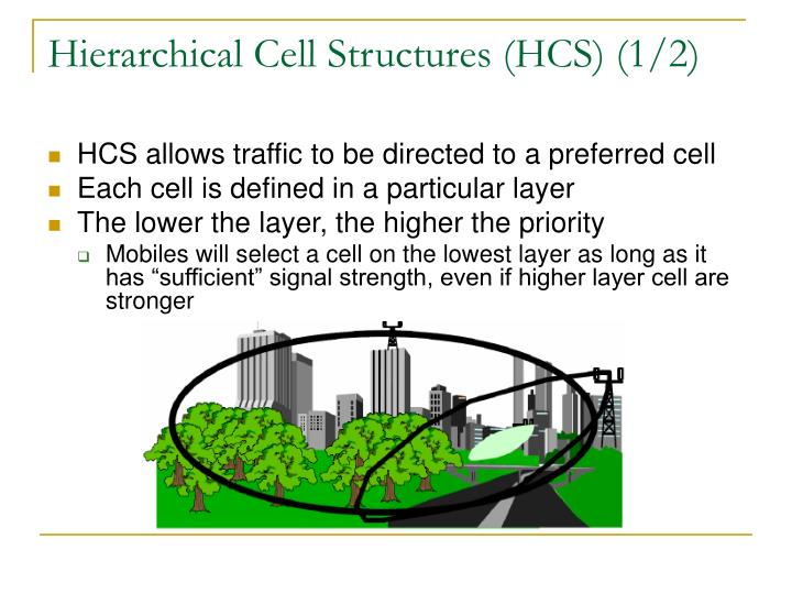 Hierarchical Cell Structures (HCS) (1/2)