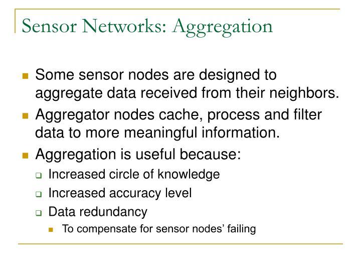 Sensor Networks: Aggregation