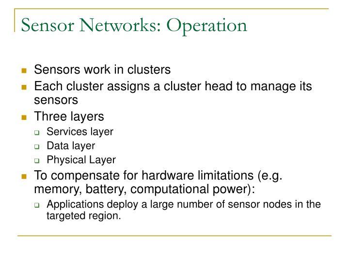 Sensor Networks: Operation