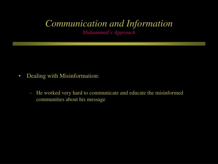 Communication and Information