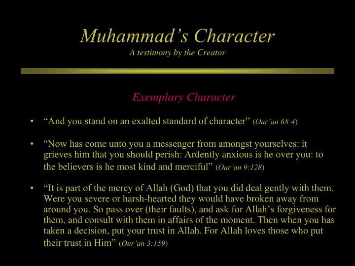 Muhammad's Character