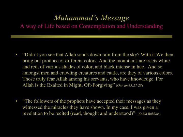 Muhammad's Message