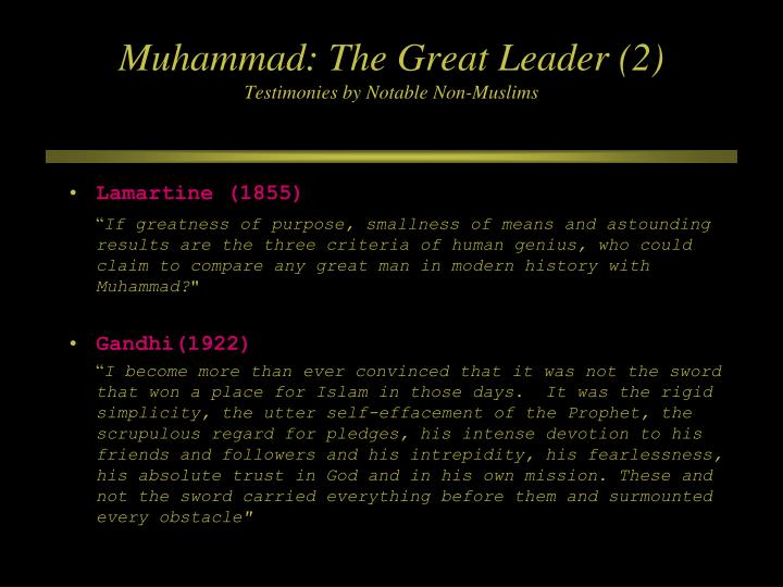 Muhammad: The Great Leader (2)