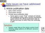 data issues we have addressed2