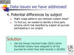 data issues we have addressed3