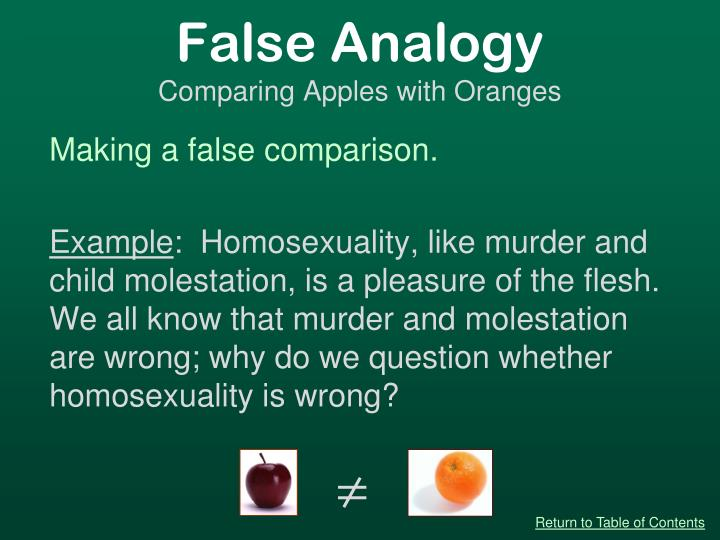 False Analogy