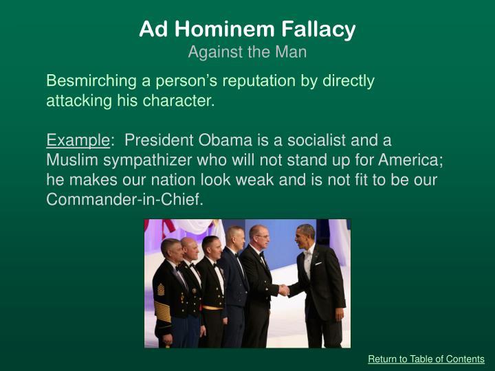 Ad Hominem Fallacy