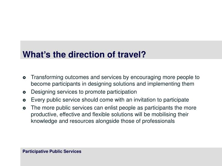 What's the direction of travel?