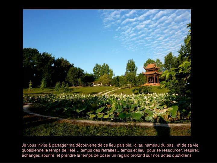 Je vous invite à partager ma découverte de ce lieu paisible, ici au hameau du bas,  et de sa vie q...