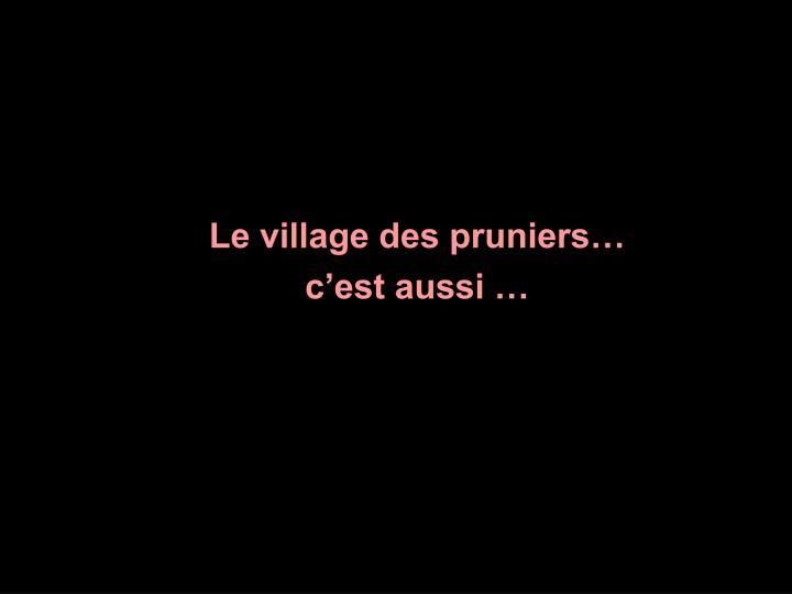Le village des pruniers…