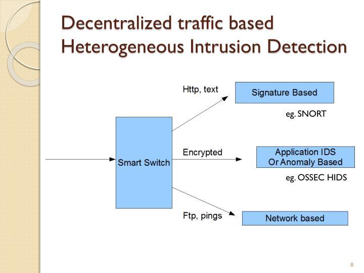 Decentralized traffic based Heterogeneous Intrusion Detection