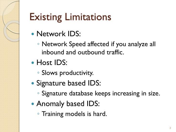 Existing limitations