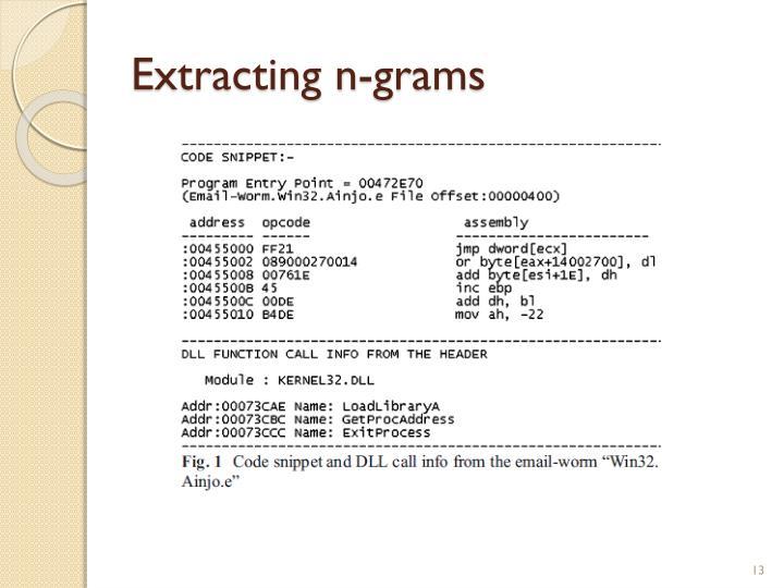 Extracting n-grams