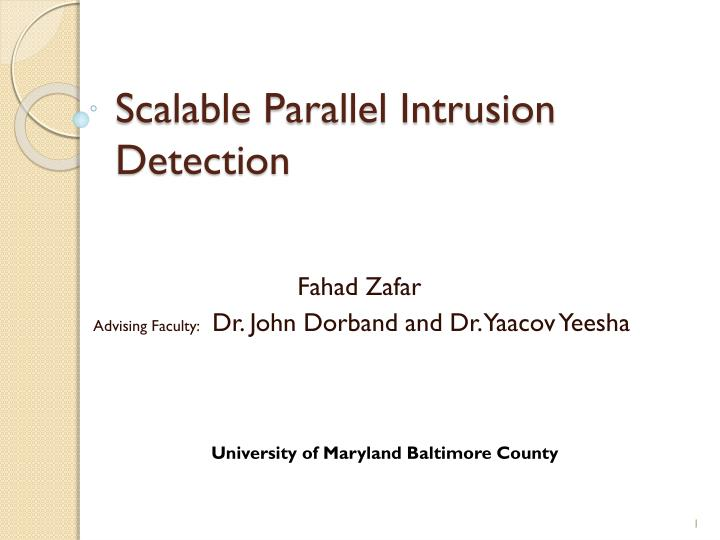 Scalable parallel intrusion detection
